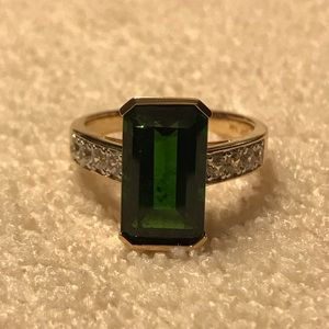 Green Chrome Diopside 14k Yellow Gold Ring 5.54ctw